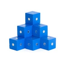 -10Pcs Wooden Magenetic Cubic Blocks Bricks DIY Building Educational Kids Toy on JD