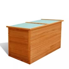 -Garden Storage Box Wood on JD