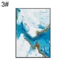 -Nordic Abstract Canvas Painting Background Wall Art Living Room Bedroom Decor on JD