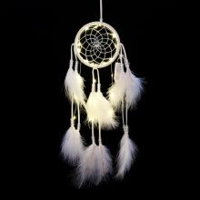 -Nordic Style Kids Decor Wind Chimes Led Lighting Dream Catcher Dreamcatcher Girl Room Bell Bedroom Romantic Hanging Decoration on JD