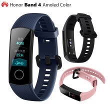-Original Huawei Honor Band 4 Smart Wristband Amoled Color 0.95' Touchscreen Swim Posture Detect Heart Rate Sleep Snap on JD