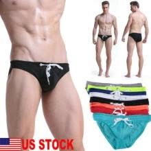 -Men's Boxer Briefs Swimwear Beach Drawstring Shorts Swim Trunks Thongs Underwear on JD