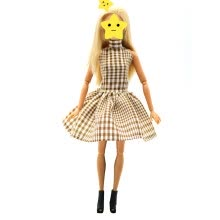 -Fashion Clothes for Cute Princess Doll Plaid Skirt Dress Doll Clothes Accessory for Kids Toy Present on JD