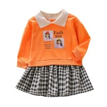 -Girls Dress Newborn Kids Baby Girls Clothes Print Tops T-shirt Mini Skirts Leisure Dresses on JD