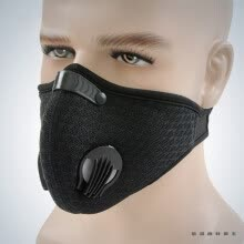 car-exterior-accessories-Winter Breathable Mesh Bicycle Mask Dust Smog Windproof Protective Nylon Mesh Bike MTB Cycling Half Face Mask on JD