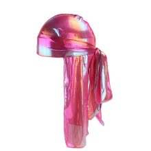 -Men/Women Silk Polyester Bandana Hat Durag Rag Tail Headwrap Headwear Gift on JD