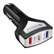 -3 Ports Car Charger Universal Dual USB Phone Car Charger Fast Charge 3.4A Type-C Port on JD