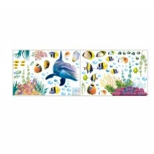 -Bathroom Kitchen Wall Sticker Waterproof Ocean Underwater Sea Home Decor Window Stickers Dolphin Fish Decal Mural Kids Room on JD