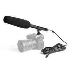 -Professional Aluminium Alloy Condenser Microphone Video Camera Mic Super Cardioid Pattern with Shock Mount XLR 3.5mm Cable for Vid on JD