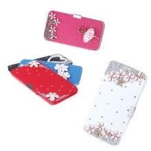 -Flip Leather Bling Flower Case Cover PU Leather for Samsung Galaxy S5 i9600 Rose on JD