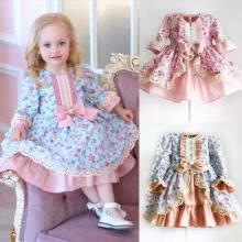 -USA Flower Girl Princess Lace Bridesmaid Wedding Dress Gown Tutu for Baby Kids on JD