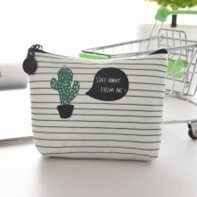 -Creative and Cute Cactus Canvas Coin Purse Portable Change Cash Bag Zipper Mini Small Purse Wallets on JD