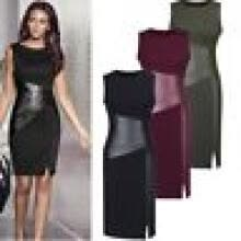 cocktail-dresses-Women Bandage Bodycon Sleeveless Party Slim Tunic Pencil Side Slit Mini Dress on JD
