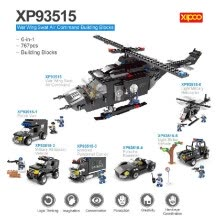 -6-in-1 XIPOO 767pcs XP93515 War Wing Swat Air Command Building Blocks Educational Toys on JD