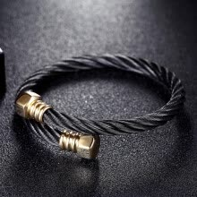 -Unisex Titanium Steel Twisted Cable Wire Cuff Bangle Bracelet For Men Women Luxury Jewelry Accessories Gifts on JD