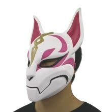 craft-gifts-Fortnite Unisex Fox Drift Skin Mask Cosplay Costume-sale Eye Masks Halloween Use on JD