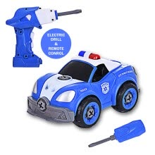-DIY P olice Car Take Apart Toys-Electric Drill-Converts To Remote Control Car on JD