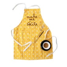 -The New Japanese Cotton Cotton Linen Apron Cute Simple Lace Side Double Pocket Home Kitchen Apron on JD