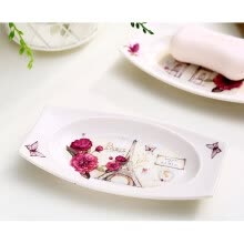 bathroom-supplies-A TingA Ting Printing Flower Ceramic Soap Dish Set of 2 on JD