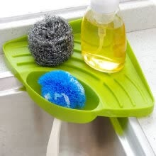 -Sponge Holder, Kitchen Sink Caddy Suction Cup Holder for Sponges, Soap, Scrubbers, Cleaning Brush on JD
