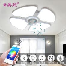 ceiling-lights-Intelligent modern stryle ceiling lamp use bluetooth control lamp light and music white color ceiling lamp on JD