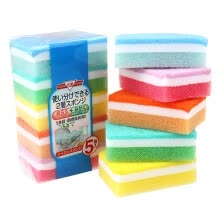 8750201-Multi-Use Multi-color Scrunge Scrub Sponge (Pack of 5) on JD