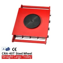 -40T Industrial cargo trolley Machine Dolly Skate Roller Machinery Mover 360 degree Rotation Cap CRA-40T-SW on JD