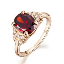 -Yoursfs® 18K Rose Gold Plated 0.8ct Simulated Ruby Ring Use Austrian Crystal Fashion Jewelry on JD