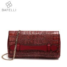 -BAFELLI handbag Crocodile split leather minaudiere shoulder bag women famous brands clutches luxury handbags womens bags on JD
