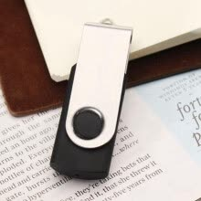usb-gadgets-FirstSeller 32GB Black with Silver Swivel USB 2.0 Flash Memory Stick Thumb Drive Pen U-Disk  87213 on JD