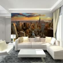 -Custom 3D Mural Wallpaper New York City Evening Landscape Living Room Sofa Bedroom Background Photo Wallpaper Contact Paper on JD