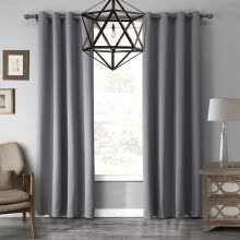 8750202-LOHASCASA Blackout Grommet Window Curtain Panel Thermal Insulated Drapes for Bedroom or Living Room 1 Panel(52 By 95 Inch ) on JD