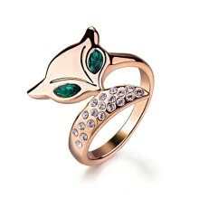 engagement-rings-Yoursfs® 18K Rose Gold Plated Fox Ring Use Austrian Crystal Fashion Jewelry on JD