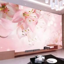 -Custom Photo Wallpaper Wall Painting Modern Art Romantic Minimalist Living Room Sofa Flowers Lily Large Mural Wall Paper Rolls on JD