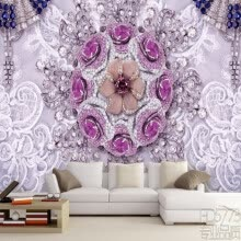 -3D photo wallpaper Romantic atmosphere exquisite jewelry soft fitted TV backdrop living room lobby wallpaper mural bathroom on JD