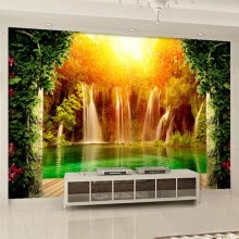 -3D Wallpaper HD Pastoral Style Waterfall Nature Landscape Mural Dining Room Living Room Backdrop Wall Non-Woven Decor Wallpaper on JD