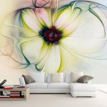 -Modern Simple Abstract Art Flower Photo Mural Wallpaper Living Room Restaurant Personality Decor Wall Painting Papel De Parede on JD