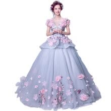 -Flower Fairy Sexy Hollow Embroidery Pastels Tulle Ball Gown Wedding on JD