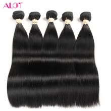 -Alot Straight Wave Malaysina Hair Weave Bundles Remy Hair Extension 100% Human Hair on JD