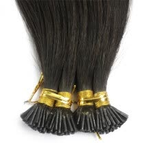 -1g/s 100g Human Virgin Hair Dark Brown Pre-bonded Keratin Stick I-tip Hair Extensions on JD