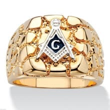 -Hot Selling  Personality Fashion 18k gold Plated Masonic Memorial religious Party ring( Size:8 9 10 11 12 13 14 15) on JD
