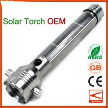 8750502-Solar LED Flashlight Car Charger Safety hammer Emergency Super Bright 18650 Rechargeable High Power Life-Saving Torch on JD