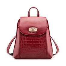 Aliwillam® 2016 New Women s Fashion Backpack Korean Style School Bags for  girls crocodile pattern PU Leather shoulder bag ef3c9532ad8bc