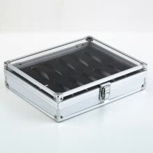 -12 Grid Slots Jewelry Watches Display Storage Box Case Aluminium Square NEW on JD