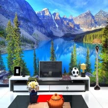 -Custom 3D Photo Wallpaper Room Mural Mountain Peak Park Landscape Living Room Wall Mural Painting Wallpaper Papel De Parede 3D on JD