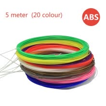 printers-ABS consumable filament 3D printer consumptive material 5 meter ABS material (20 colour) on JD