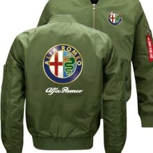 -new Alfa Romeo Bomber Flight Flying Jacket Winter thicken Warm Zipper Men Jackets Anime Men's Casual Coat on JD