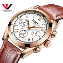 -NIBOSI 2018 Top Brand Luxury Stainless Steel Wrist Watch Men Business Casual Quartz Watches Wristwatch Waterproof Relogio Masculin on JD