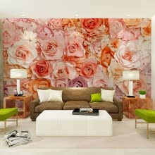 -Custom photo wallpaper European style rose sea wall painting personality living room bedroom dining room wallpaper mural on JD