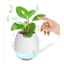 8750202-Music Plant Smart Touch Control Bluetooth Speaker Rechargeable Planter Music Flowerpot on JD